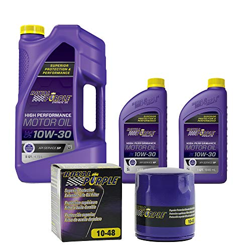 Royal Purple SAE 5W-30 Synthetic Motor Oil 7 quarts and a Royal Purple 10-48 Extended Life Premium Oil Filter (485W307QT)
