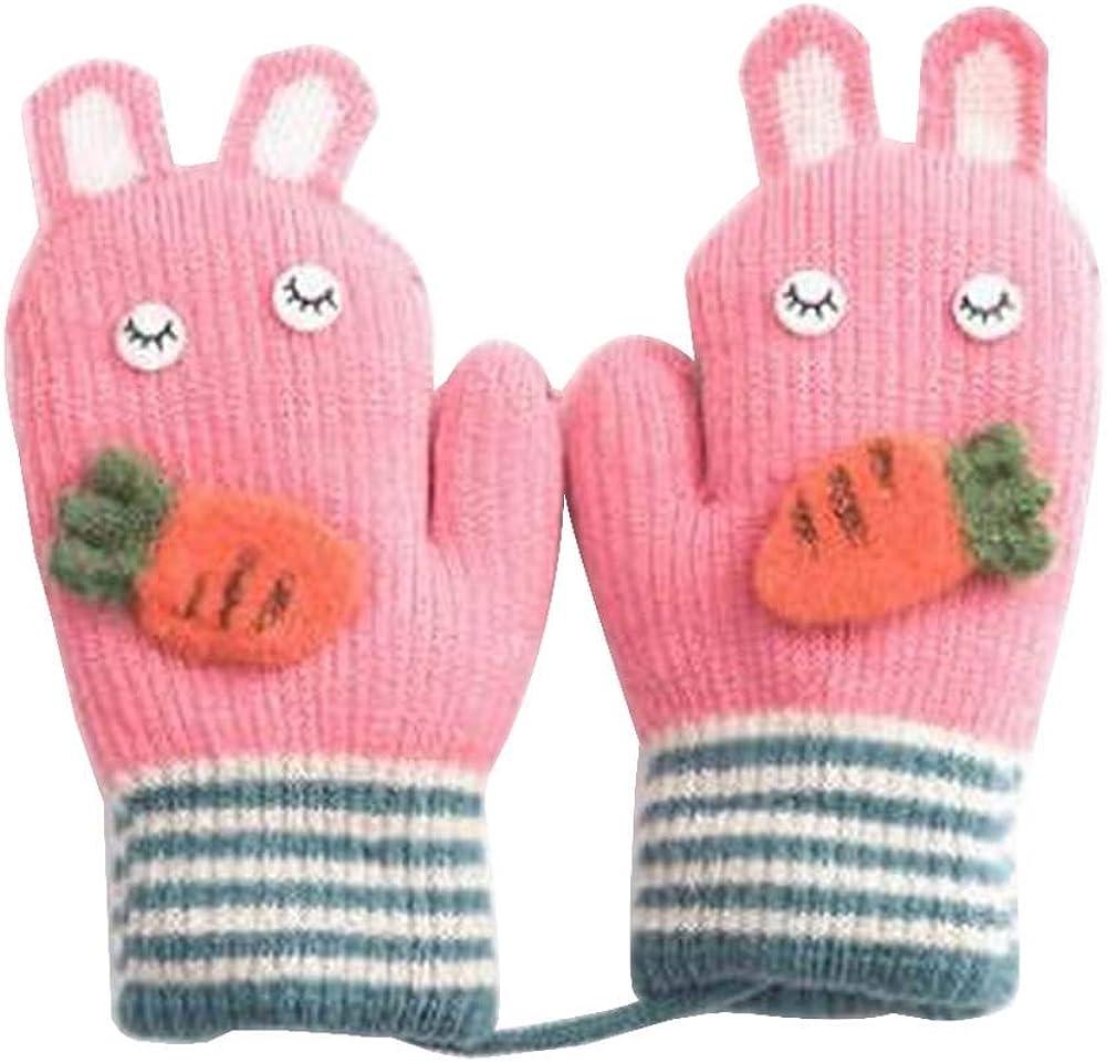 Lovely Knitted Baby Mittens Warm Winter Children Mittens Baby Gloves #24