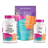Pink Stork Pregnancy Bundle: Comprehensive Prenatal Vitamins with Zinc, Vitamin C, Melatonin Free Sleep Tea + Probiotics, Women-Owned