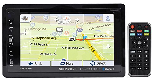 "SOUNDSTREAM VRN-65HXB 6.2"" in-Dash Car Navigation GPS Bluetooth DVD/CD Receiver"