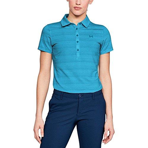 Under Armour Damen Poloshirt Zinger Printed Short Sleeve, Damen, Polo, Women's Zinger Printed Short Sleeve Polo, Capri (419)/Capri, X-Small