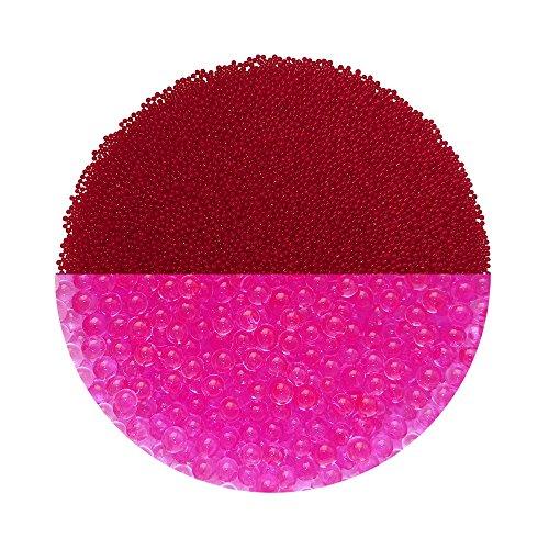 Trendfinding Granulat für künstliche Blumenerde Hydroperlen Hydro Perlen Wasserperlen Aquaperlen Rosé-Rot Pink 1-2 mm