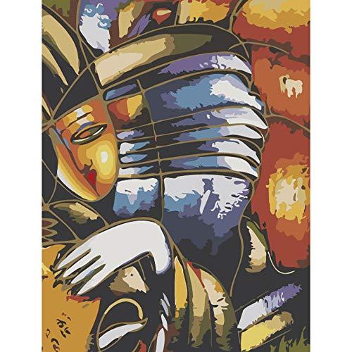 WDJHC Pintura por NúMeros Dibujos para Pintar con NúMeros Pigmento AcríLico Personalizado DIY para Adultos NiñOs Y Principiantes DecoracióN del Hogar - TíMido 16x20 Pulgadas (Sin Marco)