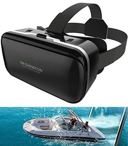 【2021最新 VRゴーグル】 VRヘッドセット VRヘッドマウントディスプレイ 3D スマホVR ヘッドホン付き 瞳孔/焦点調節 モバイル型 4.0~6.5インチのiPhone/andoridで使える ブラック