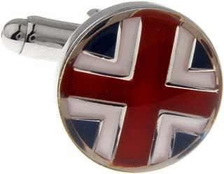 Mens Executive Cufflinks Flags Around the World Round Union Jack British Flag European Cuff Links