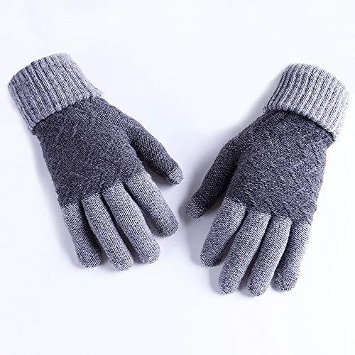 XXHDEE herfst-mannen-gsm-touchscreen breien wol warme vingeroogsthandschoenen, handschoenen