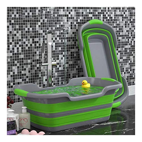 LIMUZI Pet Bath Pool Opvouwbare Portable Bathtub kleine honden katten Swimming Tub Inklapbare Dichte Water Pond (60 * 40 * 28cm) (Color : Green)