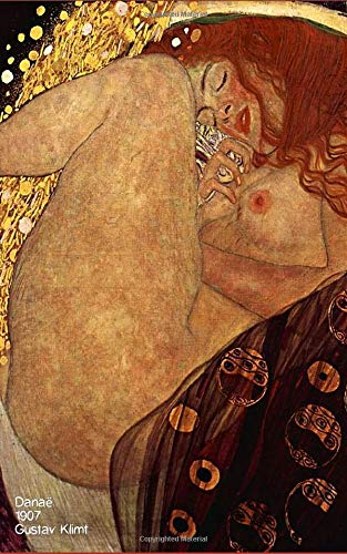 Danäe, 1907 - Gustav Klimt: Art Notebook, Journal, Paper notebook, Composition book, Artist Gift, Art Lover - 120 Lined / Ruled Pages - 5x8 inches (12.7.24 x 20.32 cm)
