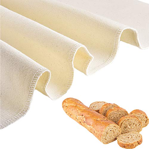 Professional Bakers Couche Extra Large 35 x 26 Inch,Heavy Duty Linen Pastry Proofing Cloth for Bread Dough Baking,Thick Baking Bread Cloth for Baguettes,Loaves,Ciabatta