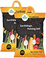 TrustBasket Enriched Premium Organic Earth Magic Potting Soil Mix with Required Fertilizers for Plants - 10 KG