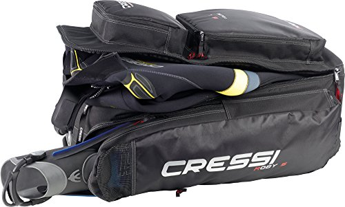 Cressi Strong Large Capacity Trolley Bag 115L with Backpack Straps | Moby 5 designed in Italy