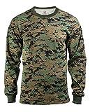 ロスコ 長袖Tシャツ ウッドランドデジタルカモ ROTHCO LONG SLEEVE T-SHIRT / WOODLAND DIGITAL CAMO (3XL)