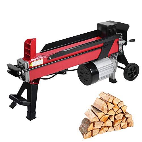 Elektrischer Holzspalter 7 Tonnen Spaltkraft / 52 cm Spaltlänge / 230V 2200 W, Elektromotor, kompakter Hydraulikspalter