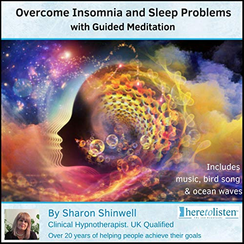 Overcome Insomnia and Sleep Problems with Guided Meditation audiobook cover art