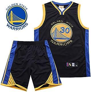 Hombre Ropa de Baloncesto NBA Warriors No. 30 Curry Bordado Pantalones Cortos de Baloncesto Tops de Baloncesto
