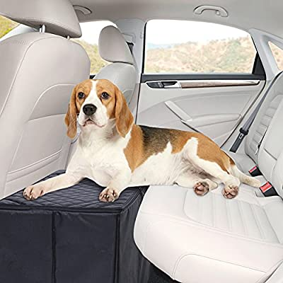 MSR IMPORTS Dog Car Seat Extender - Safer More Comfortable Back Seat Platform with Storage