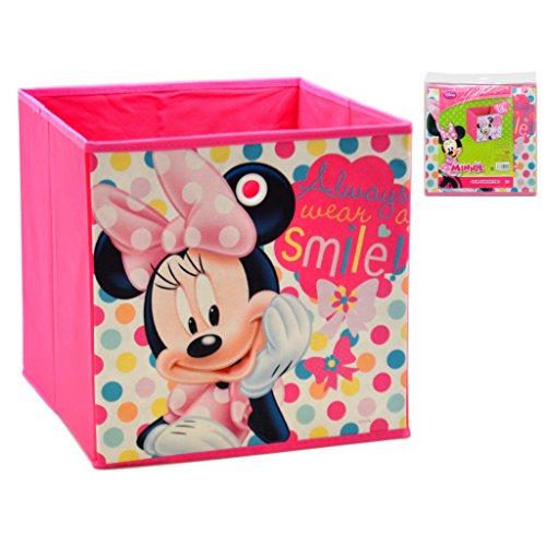 Minnie Mouse Caja ALMACENAJE 31X31X31 REMATE Minnie, Multicolor