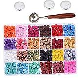 Berrywho Tenuta Beads ceralacca Cera per Wax Seal Timbro con 600pcs Cera cucchiaino Candele