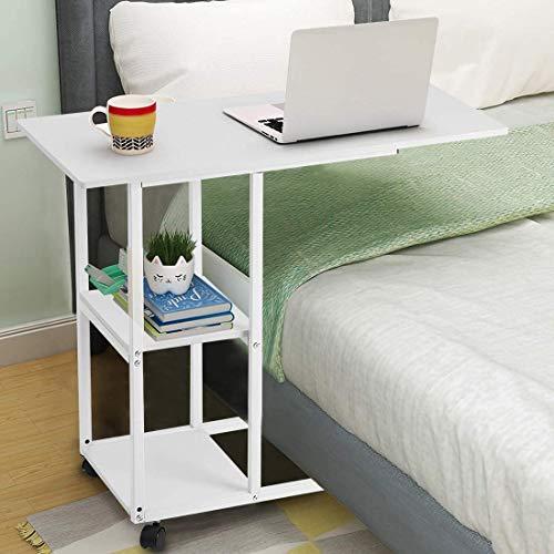 Beistelltisch Rollen Computertisch Pflegetisch Krankenhaus Nachttisch Beistelltisch für Pflegebett Weiß Schreibtisch Laptopständer Frühstückstisch Mobile Pflegetisch Sofatisch Laptopdesks