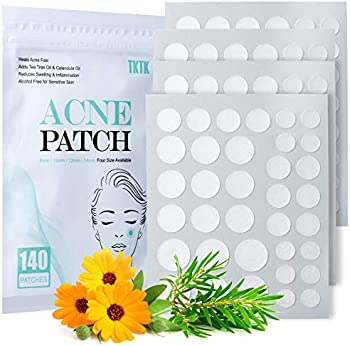 140 Count TKTK 4 Sizes Hydrocolloid Acne Absorbing Cover Patch