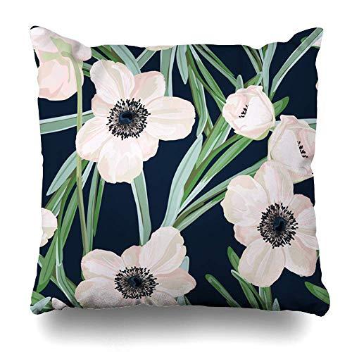 18' Imágenes Dobles Cojines Fundas Sencillas Pillowcase Rosa Flor VerHojas País Funda Almohada Suave clásicas Cushion Cover
