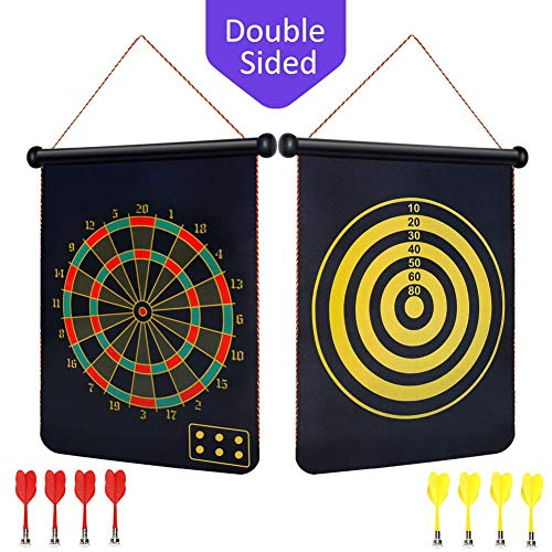 Great Features Of BabyNora Magnetic Dart Board, 15 Double-Sided 2 Magnetic Dart Game Set with 8 Mag...