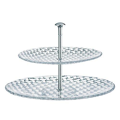 Spiegelau & Nachtmann, 2-tlg. Etagere, Kristallglas, Größe: 32+23 cm, Bossa Nova, 0078538-0