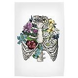 artboxONE Poster 30x20 cm Anatomie Floral Floral Lungs