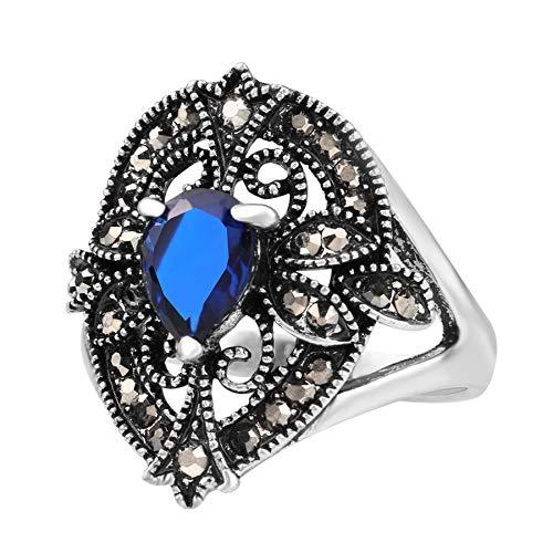 GMZWW Kinel vintage sieradenringen voor vrouwen zilver kleur water dropring goedkope sieraden groothandel veel mix