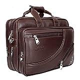 Leather World 16 'Bolsa de oficina para hombres mensajero expandible portátil bolsa elegante cruz cuerpo maletín unisex marrón