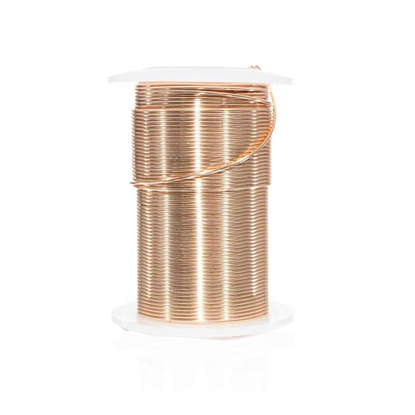 Craft County Tarnish Resistant Copper Craft Wire – for Jewelry Making, Ornament Crafting, and Wire Sculptures (Gold, 40 Yards X 28 Gauge)
