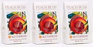 Butterfields Candy - Gourmet, Old-Fashioned Peach Buds Hard Candy, 3 Oz (3 Pack) | Gluten Free | Made with 100% Real, Pure Cane Sugar | Handcrafted in the USA