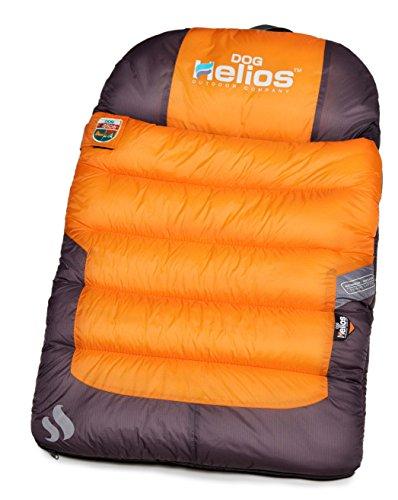 DOGHELIOS 'Trail-Barker' Multi-Surface Water-Resistant Travel Camper Sleeper Pet Dog Bed Mat w/ BlackShark Technology, One Size, Sunkist Orange, Dark Grey