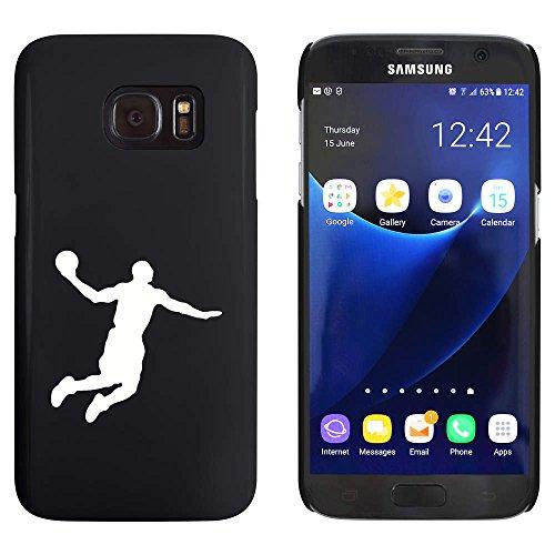 Azeeda Schwarz 'Basketball-Spieler' Hülle für Samsung-Galaxie S7 (MC00163751)