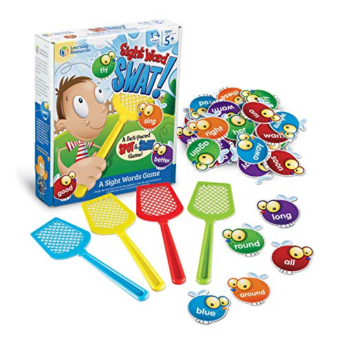 Learning Resources Sight Word Swat a Sight Word Game, Home School, Visual, Tactile and Auditory Learning, Phonics Games, Easter Gifts for Kids, 114 Pieces, Easter Games, Ages 5+