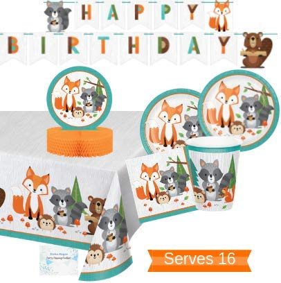 Find Discount Woodland Animals Party Supplies and Decorations - Woodland Party Plates and Napkins Cu...