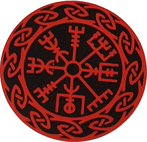 MAMA STICKER Vinyl Bumper Vegvisir RED Viking Norse Rune Talisman Amulet Odin Fortune Believe Tattoo Decal Symbol Sign Helmet Motorcycle Luggage Laptop Notebook Back Truck Van SUV Window Scrapbook