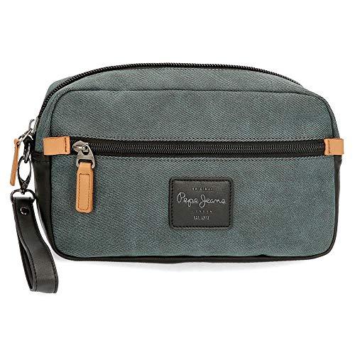 Pepe Jeans Cargo Sac à main Gris 24,5x15x5 cms Coton et PU