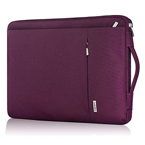 Landici 360 Protective Laptop Case Sleeve 13 13.3 Inch,Slim Computer Bag Cover Compatible with 13' New MacBook Air,MacBook Pro M1 2020,13.5' Microsoft Surface Book,XPS 13,Chromebook with Pocket-Purple