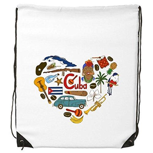 Cuba Corazón paisaje Customs Landmark animales Nacional Bandera residente dieta ilustración patrón cordón mochila líneas finas Shopping creativa medio ambiente poliéster bolsa de hombro bolso