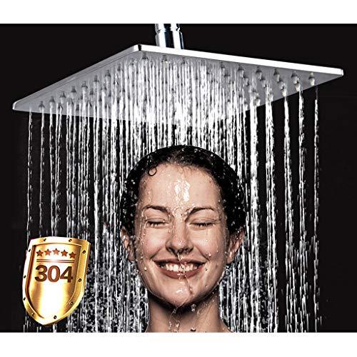 YUI Brausekopf Kopfbrause Regendusche, Einbauduschköpfe Edelstahl Duschkopf Regenbrause mit Anti-Kalk-Düsen Poliert Spiegeleffekt Hochglänzend Platz (10 Zoll)