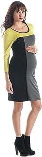 Amber Color Block Maternity Dress