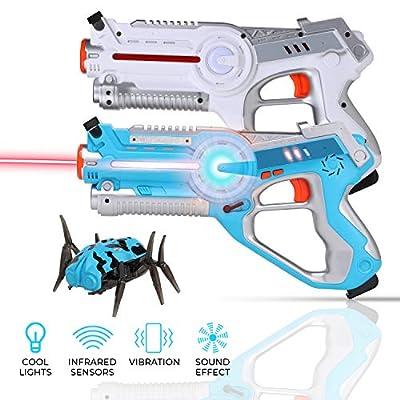 Children Toy Infrared Guns, Blue & White Toy Gun, Infrared Blaster for Birthday Parties