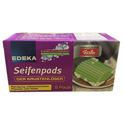 Edeka Seifenpads Der Krustenlöser für Pfannen und Töpfe Topfreiniger (8 Stck Packung)