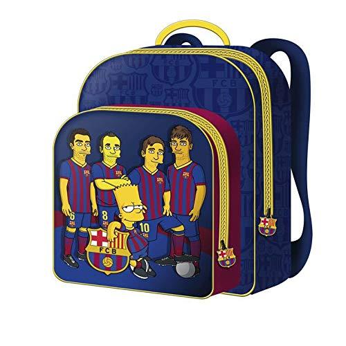 FCBARCELONA Mochila 30cm Bar«A Simpsons - FC Barcelona Mochila Tipo Casual, 40 cm, 22 litros, Multicolor