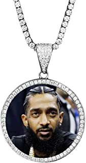 iced out photo pendant chain