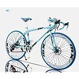 CANBIN ロード自転車、24スピード26インチバイク、ダブルディスクブレーキ、高炭素鋼フレーム、ロード自転車レース、男性と女性大人 (Color : D)