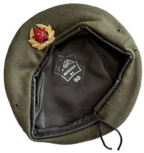 Russische Bodentruppen Standard Khaki Baskenmütze Military Style Hut Kappe mit Abzeichen
