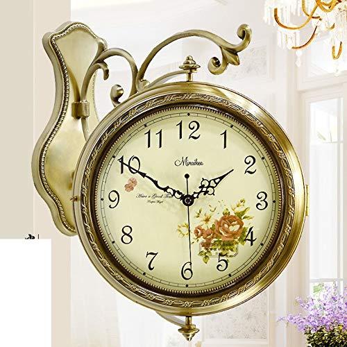 YHEGV dans Le Style européen, Silence, Duplex/Moderne Horloge Murale, Horloge à Quartz/Two-Clock d'autrefois - B 20 cm