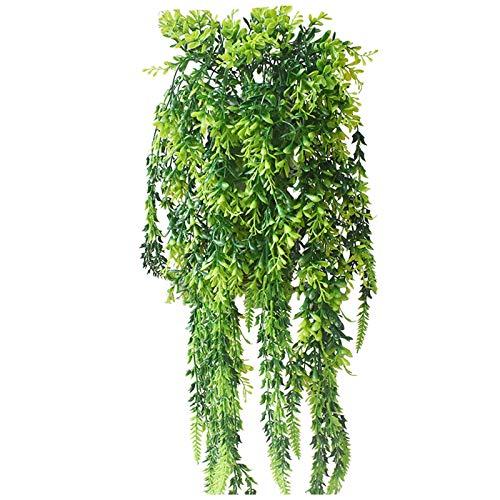 Leonshay Lavender Wreath for Front Door Handicraft Artificial Leaves Green Vine Spring Summer Decorating Indoor Outdoor (C)